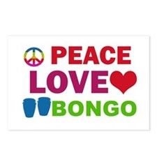 Peace Love Bongo Postcards (Package of 8)