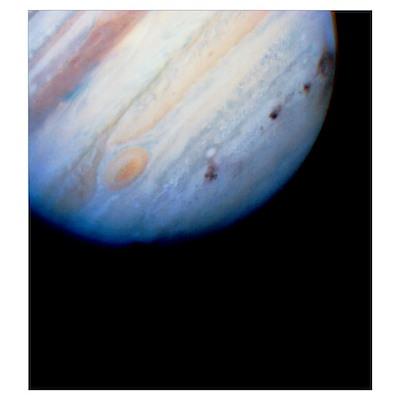 Impact sites, Comet Shoemaker-Levy/Jupiter collisi Poster