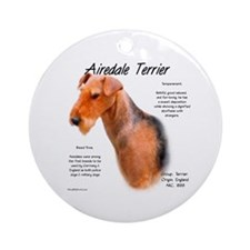Airedale Ornament (Round)
