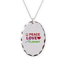 Peace Love Clarinet Necklace