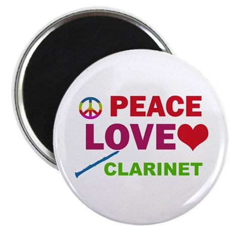 Peace Love Clarinet Magnet
