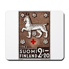 1943 Finland Lynx Coat of Arms Postage Stamp Mouse