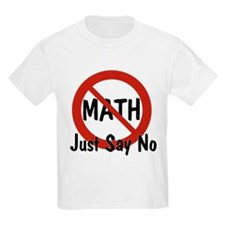 No Math Kids T-Shirt