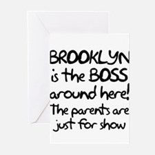 Brooklyn is the Boss Greeting Cards (Pk of 10)