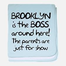 Brooklyn is the Boss baby blanket