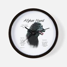 Afghan (black) Wall Clock