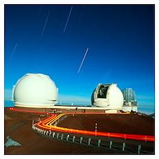 Keck I and II observatories on Mauna Kea, Hawaii Poster