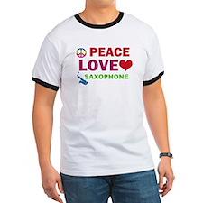 Peace Love Saxophone T