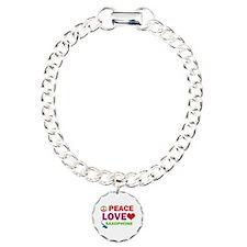 Peace Love Saxophone Bracelet
