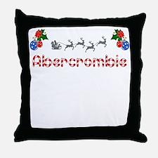 Abercrombie, Christmas Throw Pillow