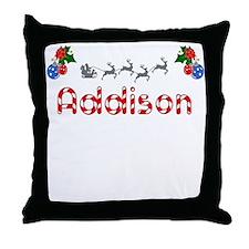 Addison, Christmas Throw Pillow
