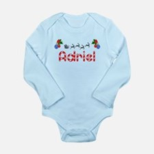 Adriel, Christmas Long Sleeve Infant Bodysuit