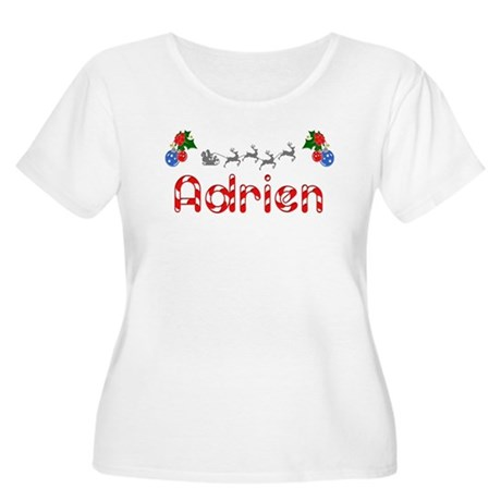 Adrien, Christmas Women's Plus Size Scoop Neck T-S