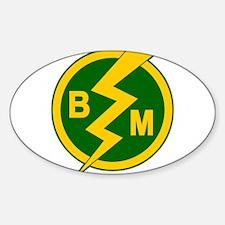 BEST MAN! Sticker (Oval)