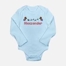 Alexzander, Christmas Long Sleeve Infant Bodysuit