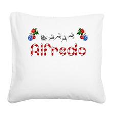 Alfredo, Christmas Square Canvas Pillow