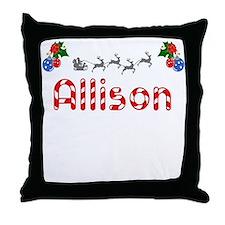 Allison, Christmas Throw Pillow