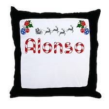 Alonso, Christmas Throw Pillow