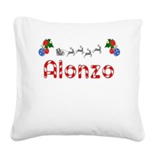 Alonzo, Christmas Square Canvas Pillow