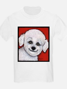 Bichon Frise Poodle Kids T-Shirt