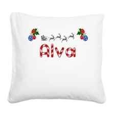 Alva, Christmas Square Canvas Pillow