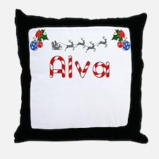 Alva, Christmas Throw Pillow