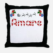 Amare, Christmas Throw Pillow