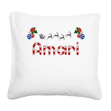 Amari, Christmas Square Canvas Pillow