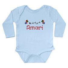 Amari, Christmas Long Sleeve Infant Bodysuit