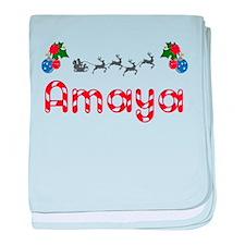 Amaya, Christmas baby blanket