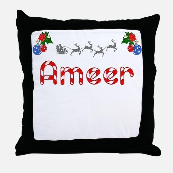 Ameer, Christmas Throw Pillow