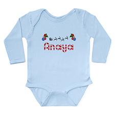 Anaya, Christmas Long Sleeve Infant Bodysuit