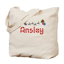 Ansley, Christmas Tote Bag
