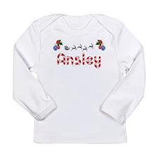 Ansley, Christmas Long Sleeve Infant T-Shirt