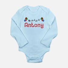 Antony, Christmas Long Sleeve Infant Bodysuit