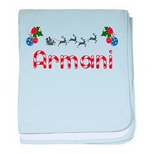 Armani, Christmas baby blanket
