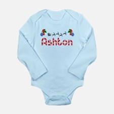 Ashton, Christmas Long Sleeve Infant Bodysuit
