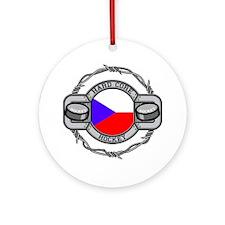 Czech Republic Hockey Ornament (Round)