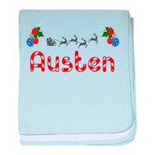 Austen, Christmas baby blanket