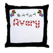 Avery, Christmas Throw Pillow