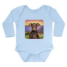 Doberman Meadow Long Sleeve Infant Bodysuit