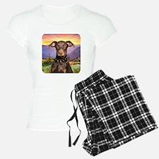 Doberman Meadow Pajamas