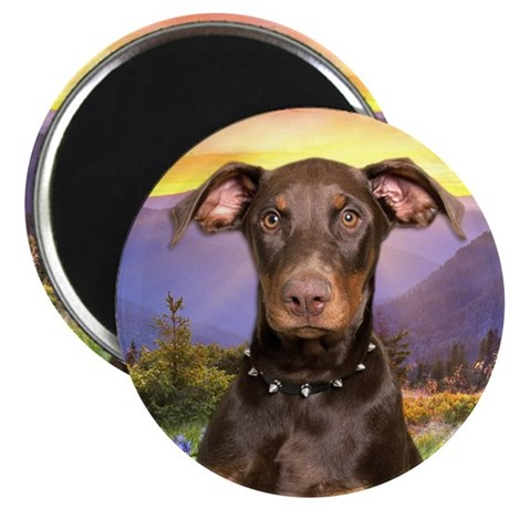 "Doberman Meadow 2.25"" Magnet (100 pack)"