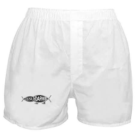 DARWIN VS. JESUS Boxer Shorts