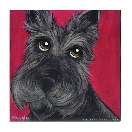 Scottish Terrier Tile Coaster
