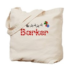 Barker, Christmas Tote Bag