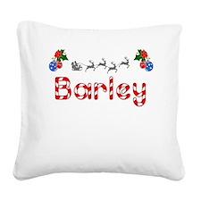 Barley, Christmas Square Canvas Pillow