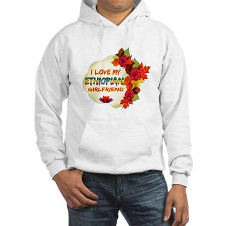 Ethiopian Girlfriend Valentine design Hooded Sweat