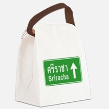 Sriracha Highway Sign Canvas Lunch Bag