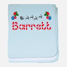 Barrett, Christmas baby blanket